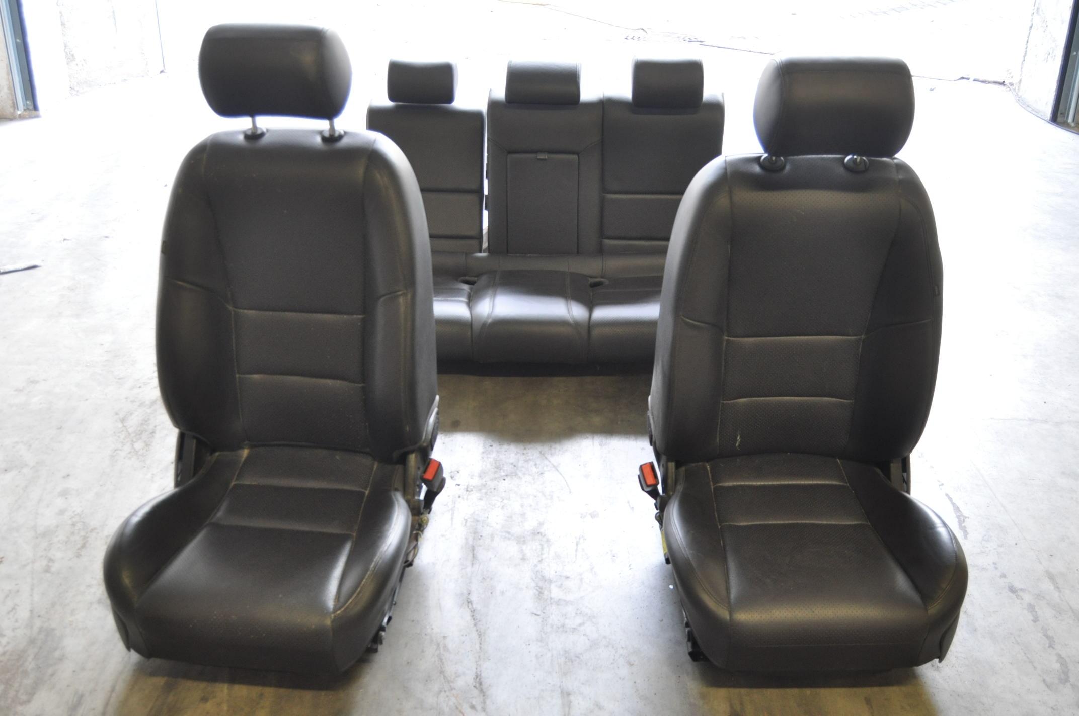 jaguar s type 2006 facelift rhd black leather interior seats ebay. Black Bedroom Furniture Sets. Home Design Ideas